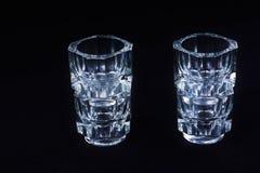 Чашка яичка граненого стекла кристаллическая Стоковое Изображение