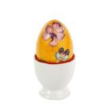 Чашка яичка изолированная на белизне Стоковое фото RF