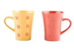 чашка 2 цветов Стоковое Фото