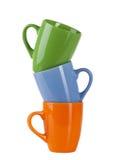 чашка 3 цвета Стоковое Изображение