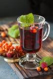Чашка ashberry чая с циннамоном и анисовкой Стоковые Изображения