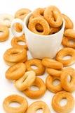 чашка bagels Стоковые Изображения