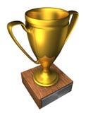 чашка c золотистая Стоковое Фото
