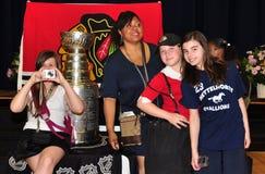 чашка chicago показала общественную школу stanley Стоковое Изображение