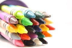 чашка crayons Стоковая Фотография