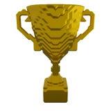 чашка 3d золотистая Стоковое Фото