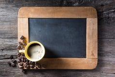 Чашка Esspresso на шифере Стоковые Фото