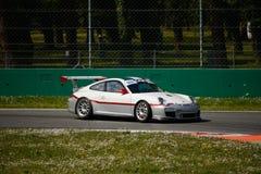 Чашка 997) GT3 Порше 911 команды Ebimotors (на Монце Стоковая Фотография