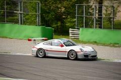 Чашка 997) GT3 Порше 911 команды Ebimotors (на Монце Стоковые Фото