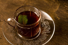 Чашка Teatime ретро Стоковое фото RF