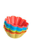 Чашки выпечки силикона для булочек Стоковое Фото