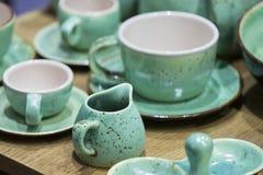 Чашки гончарни для выпивать Стоковое Изображение