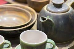 Чашки гончарни для выпивать Стоковые Изображения RF