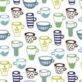 чашки делают по образцу безшовное стоковое фото rf