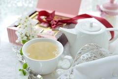 чашки жизни чай все еще Стоковая Фотография