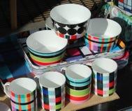 Чашки и поднос Стоковая Фотография