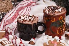 2 чашки какао стоковое изображение