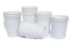 Чашки картона для горячего и холодных напитков Стоковое Изображение