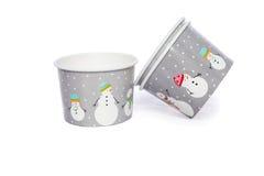Чашки картона для горячего и холодных напитков Стоковая Фотография