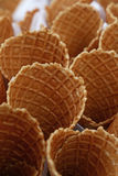 Чашки корнета конуса мороженого вафли закрывают вверх Стоковые Изображения