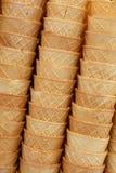 Чашки корнета конуса мороженого вафли закрывают вверх Стоковые Фотографии RF
