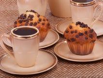 Чашки кофе и булочки Стоковое Изображение RF