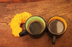 2 чашки кофе и вычисляемых печенья Стоковые Изображения RF