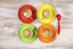 чашки кофе цветастые Стоковая Фотография RF
