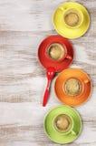 чашки кофе цветастые Стоковое Фото