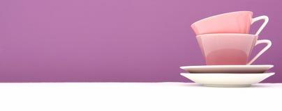 чашки кофе цветастые Стоковые Изображения