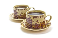 2 чашки кофе стоковые фото