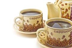 2 чашки кофе стоковая фотография rf