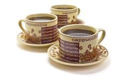 3 чашки кофе стоковая фотография rf