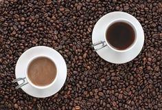 2 чашки кофе Стоковые Изображения