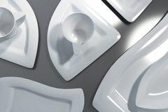 Чашки на триангулярных плитах Стоковое фото RF