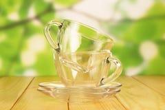 чашки опорожняют стекло Стоковое Изображение RF