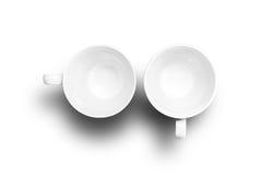 чашки опорожняют 2 Стоковые Изображения