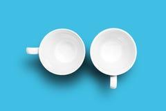 чашки опорожняют 2 Стоковое Фото