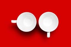 чашки опорожняют 2 Стоковое Изображение