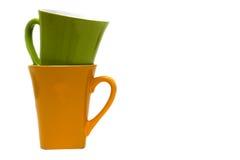 чашки пар предпосылки изолировали белизну Стоковые Фотографии RF