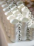 Чашки ресторанным обслуживанием Стоковое Изображение