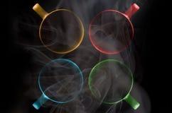 4 чашки других цветов Стоковая Фотография RF