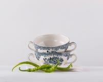 2 чашки супа Стоковые Фотографии RF