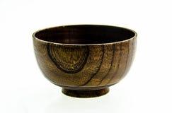 Чашки сделанные с древесиной на белой предпосылке Стоковое фото RF