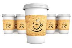 Чашки с кофе иллюстрация вектора