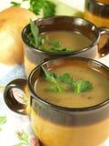 Чашки с супом гриба, крупным планом Стоковое фото RF