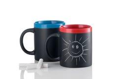 Чашки с усмехаясь солнечностью Стоковые Фотографии RF