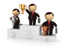 чашки характеров бизнесменов бесплатная иллюстрация