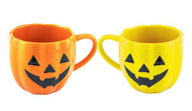 2 чашки хеллоуина пустых Стоковая Фотография RF