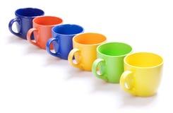 чашки цвета Стоковое Изображение RF